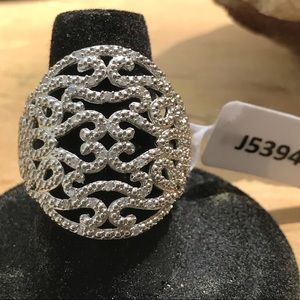 NEW Sterling Silver Marcasite Ring India Sz 7
